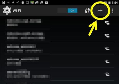 Nexus7のSSID追加画面1